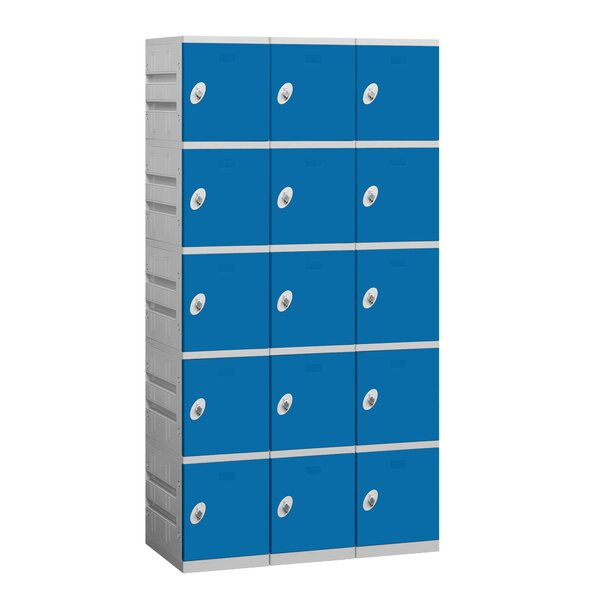 5 Tier 3 Wide Employee Locker By Salsbury Industries.