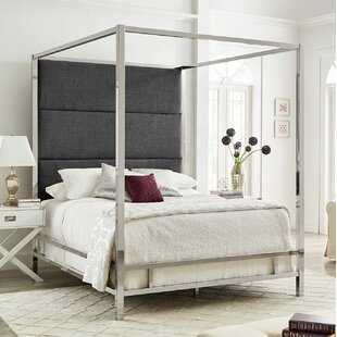 Weymouth Upholstered Canopy Bed by Brayden Studio
