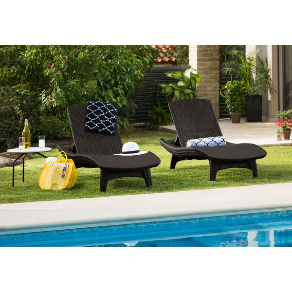 Clarita Sun Reclining Chaise Lounge (Set Of 2) By Wade Logan