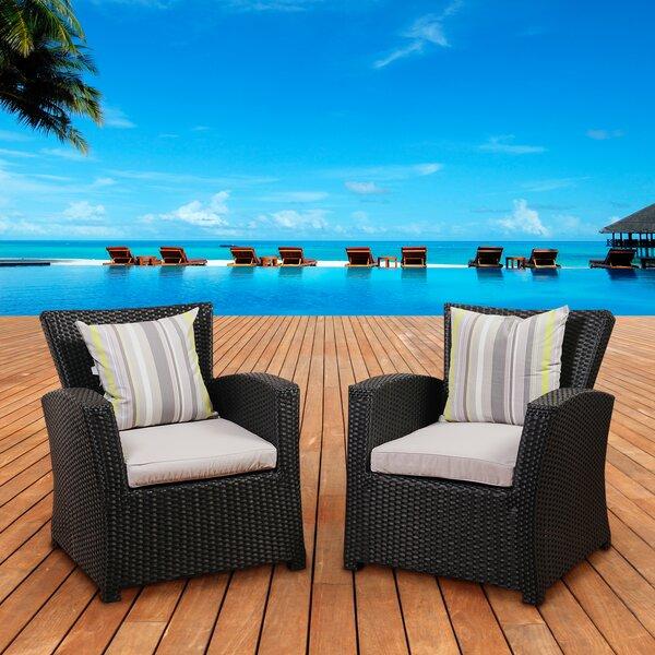 Valetta Armchair with Cushion (Set of 2) by Beachcrest Home