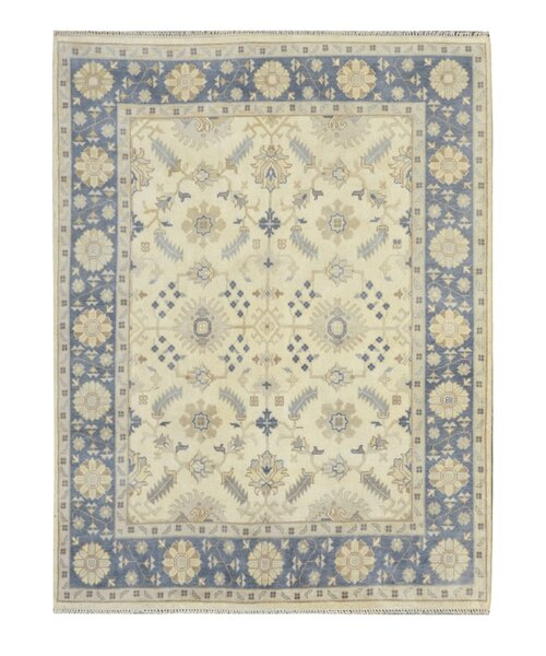 Hand-Knotted Yellow/Blue Area Rug by Wildon Home ®