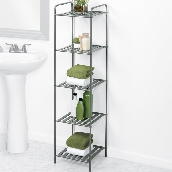 Ellasyn 13'' W x 52'' H x 13'' D Free-Standing Bathroom Shelves
