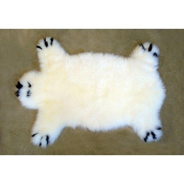 Designer Bear Animal Ivory Area Rug by Bowron Sheepskin Rugs