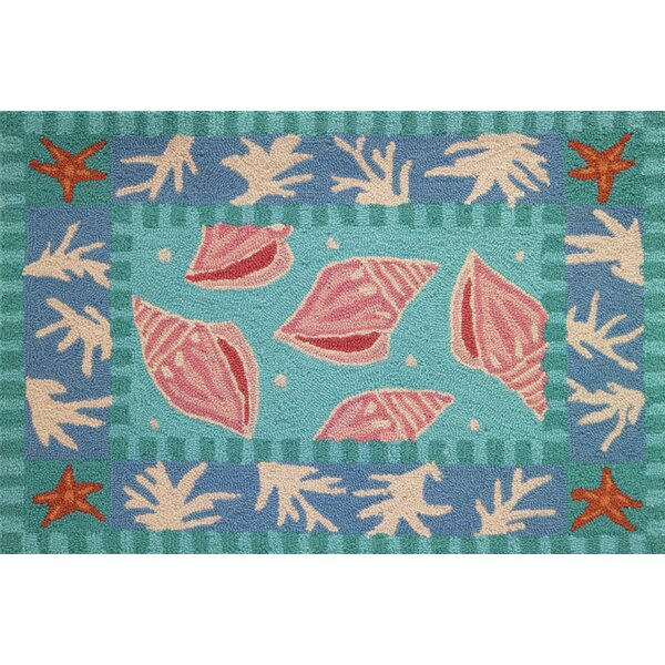 Cloverfield Shells and Coral Area Rug by Highland Dunes