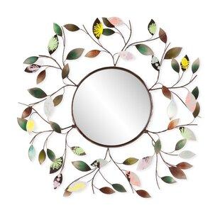 Red Barrel Studio Decorative Metallic Leaf Wall Mirror