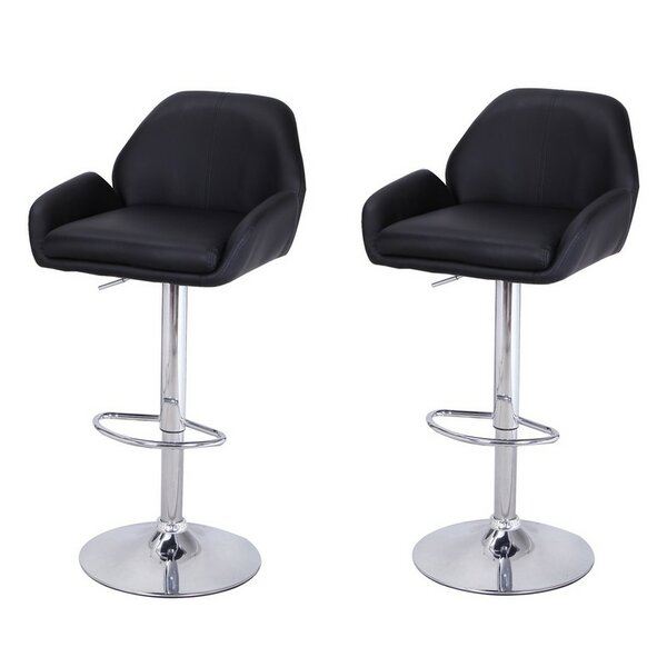 Haralson Adjustable Height Bar Stool (Set of 2) by Ebern Designs