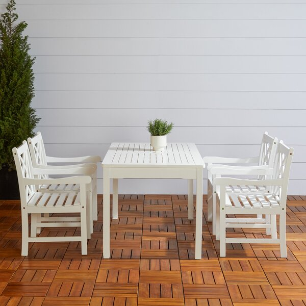 Andromeda Outdoor 5 Piece Dining Set by Beachcrest Home