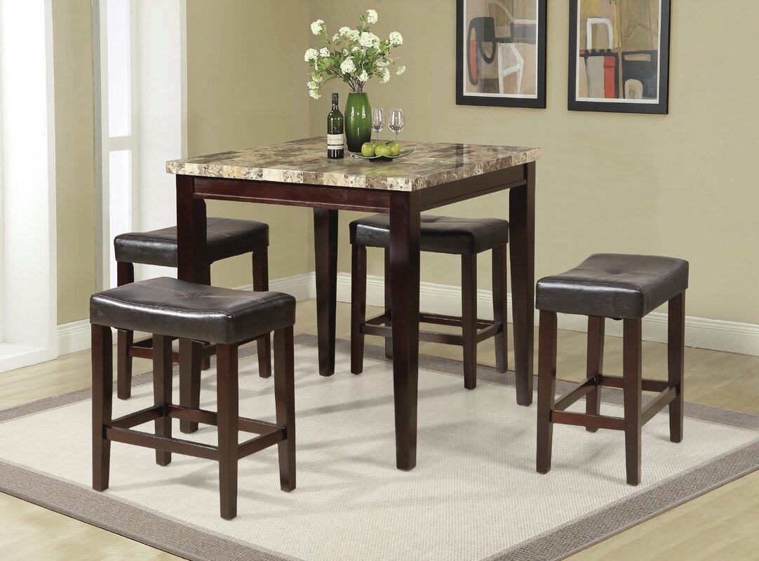Andover Mills Arline 5 Piece Pub Table Set Reviews