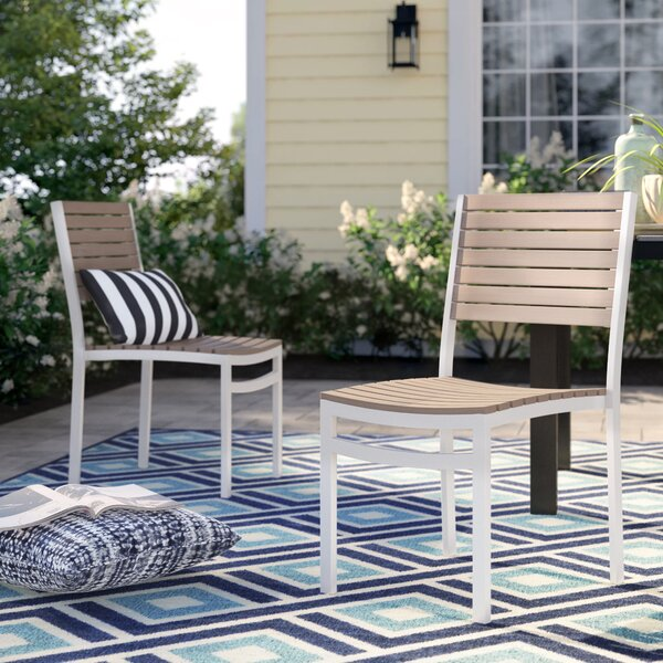 Caspian Stacking Patio Dining Chair (Set of 2) by Sol 72 Outdoor
