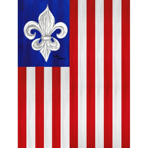 USA Fleur de lis Patriotic American House Vertical Flag by Caroline's Treasures