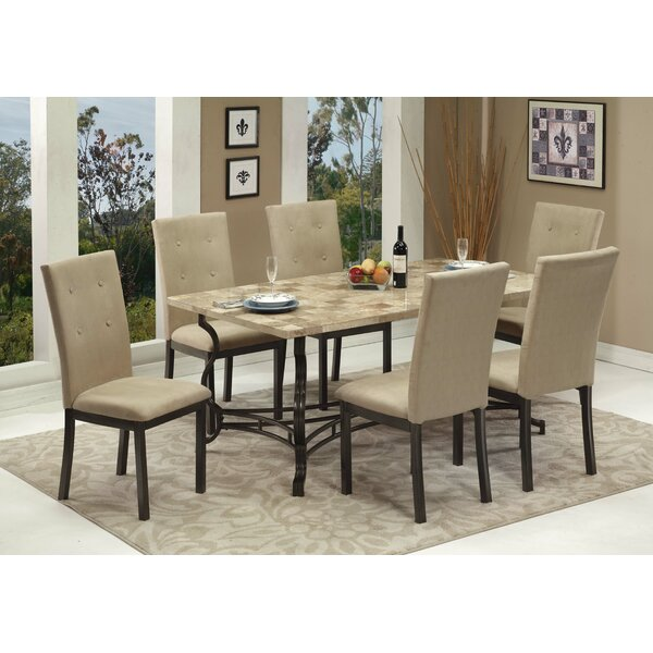 Haubrich 7 Piece Breakfast Nook Dining Set by Fleur De Lis Living