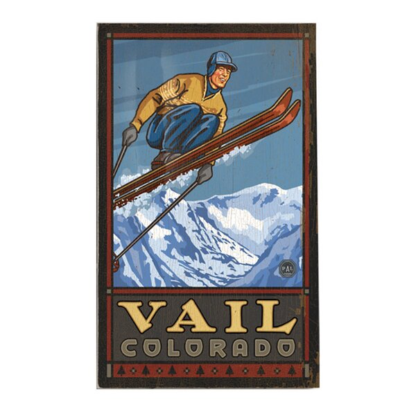 Personalized Vail Colorado II Vintage Advertisement on Wood by Artehouse LLC