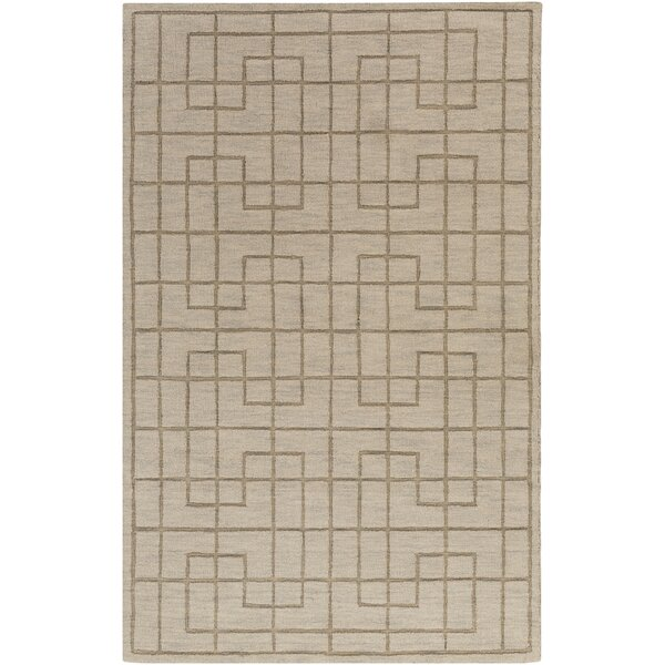 Peever Hand-Loomed Medium Gray Area Rug by Charlton Home