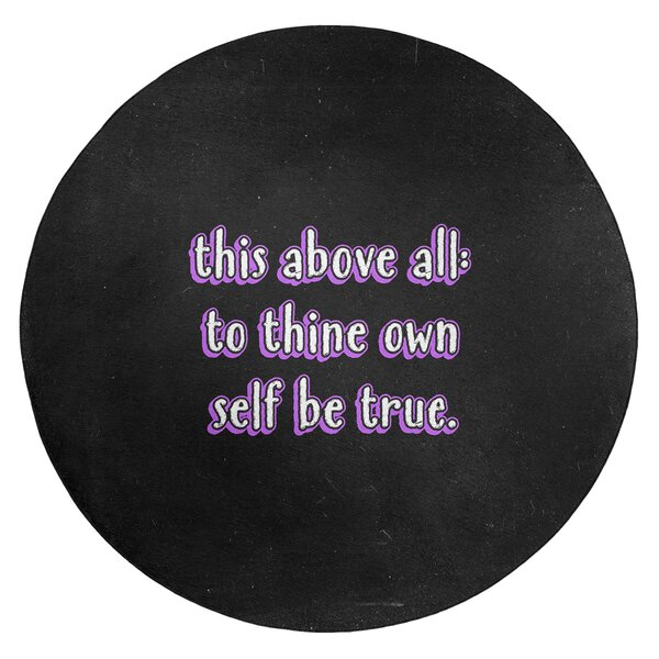 Shakespeare Inspirational Quote Chalkboard Style Poly Chenille Rug
