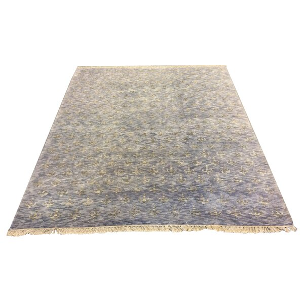 One-of-a-Kind Crumley Hand-Knotted Wool Blue Area Rug by 17 Stories