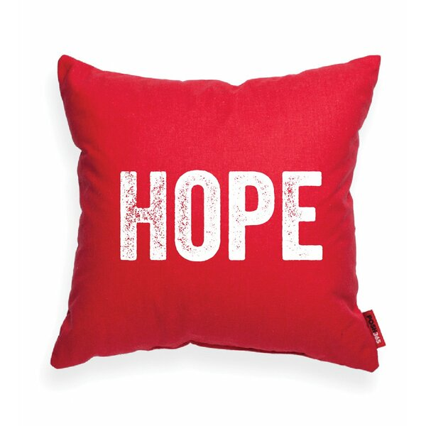 Pettis Hope Throw Pillow by Wrought Studio
