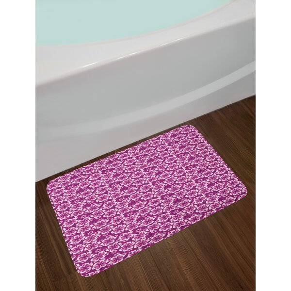 Abstract Petals Purple Bath Rug by East Urban Home