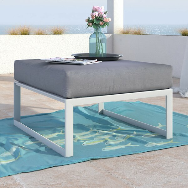 Mirabelle Outdoor Ottoman with Cushion by Elle Decor