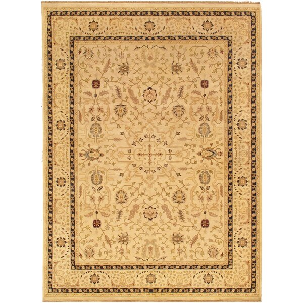 Sultanabad Gold Tribal Rustic Persian Area Rug by Pasargad