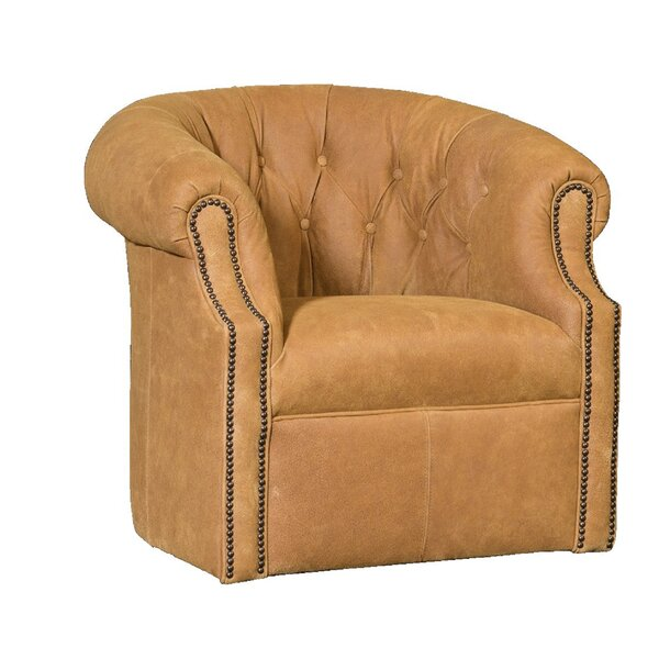 Cuellar Swivel Barrel Chair by Darby Home Co