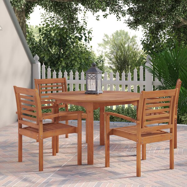Flinn Milano 5 Piece Dining Set by Beachcrest Home