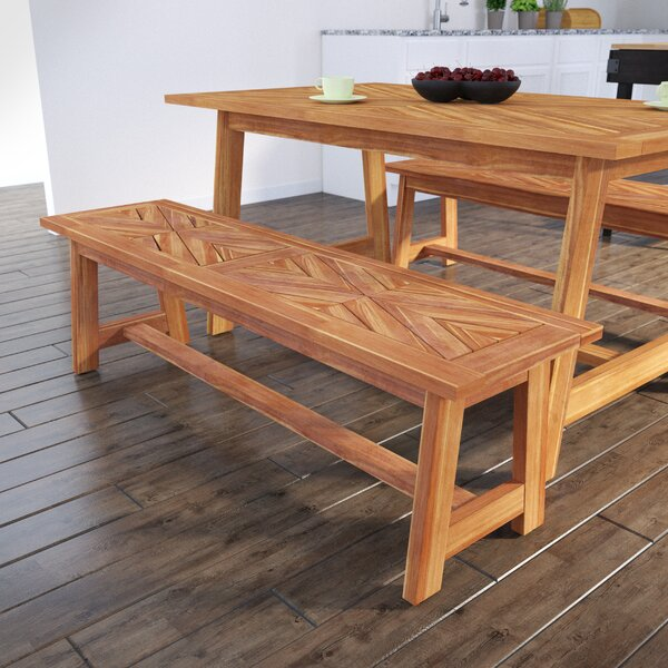 Geter Wooden Picnic Bench by Union Rustic