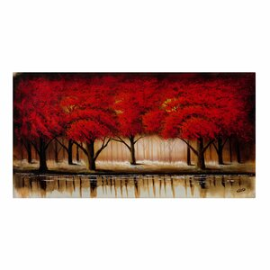 Parade of Red Trees by Rio Graphic Art Print on Canvas by Andover Mills