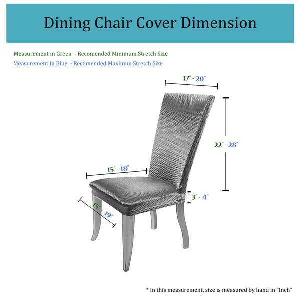 Basket Weave Dining Chair Cover by Charlton Home