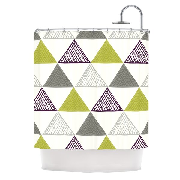 Textu Triangles Shower Curtain by East Urban Home