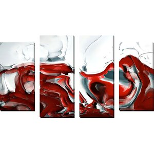 'Painted With Light' by Mark Lawrence 4 Piece Painting Print on Wrapped Canvas Set by Orren Ellis