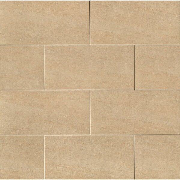 Moonstone 12 x 24 Porcelain Field Tile in Beige by Grayson Martin