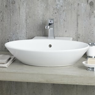 Find a Geo Ceramic Oval Vessel Bathroom Sink with Overflow ByCheviot Products