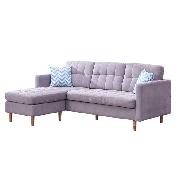 Mcintire Left Hand Facing Sectional With Ottoman By George Oliver
