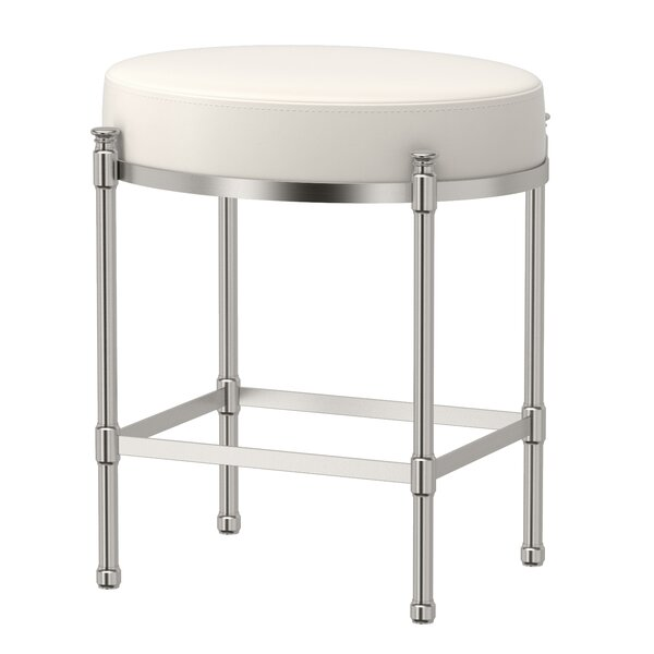 Oval Vanity Stool with Cushion by Gatco