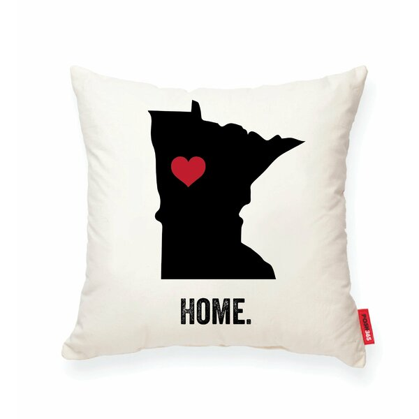Pettry Minnesota Cotton Throw Pillow by Wrought Studio