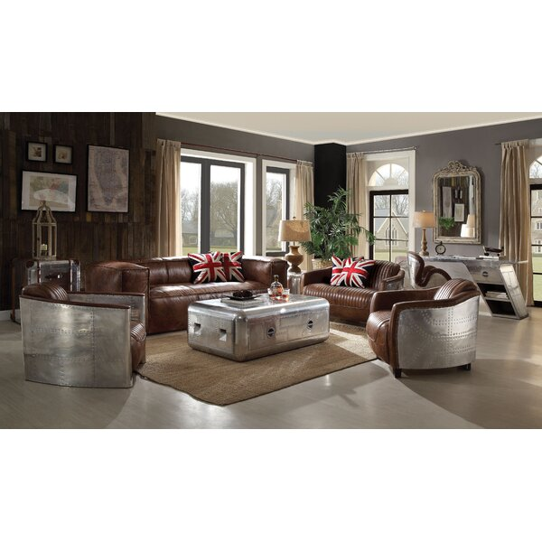 Georgie Leather Configurable Living Room Set