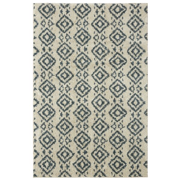 Mohawk Laguna Tangier Blue/Cream Area Rug by Under the Canopy