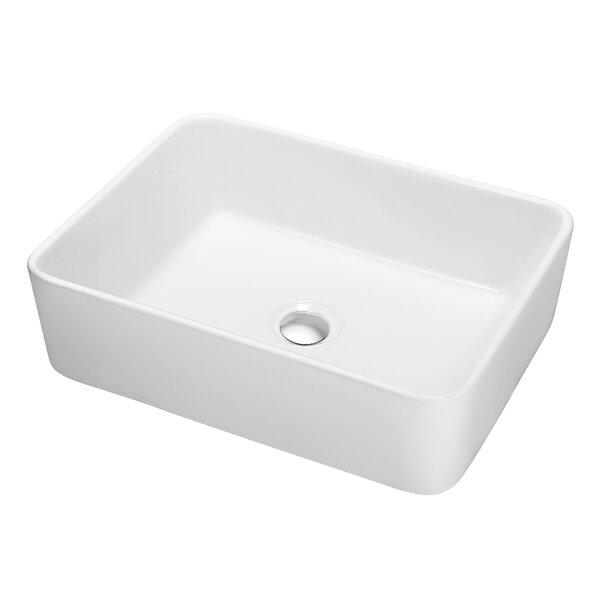 Ceramic Rectangular Vessel Bathroom Sink by Dawn U