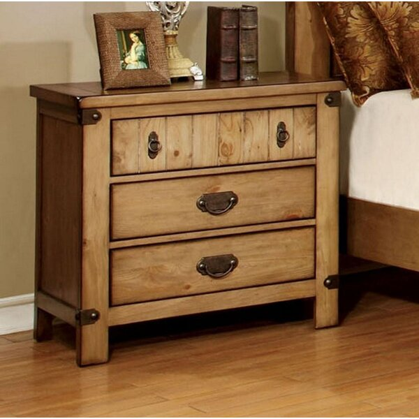 Madeira 3 Drawer Nightstand by Union Rustic