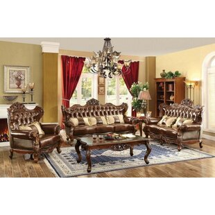 Ahren 3 Piece Leather Living Room Set by Astoria Grand
