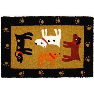 Beatson Woof Black Hand-Tufted Black/Yellow/Brown Indoor/Outdoor Area Rug ByWinston Porter