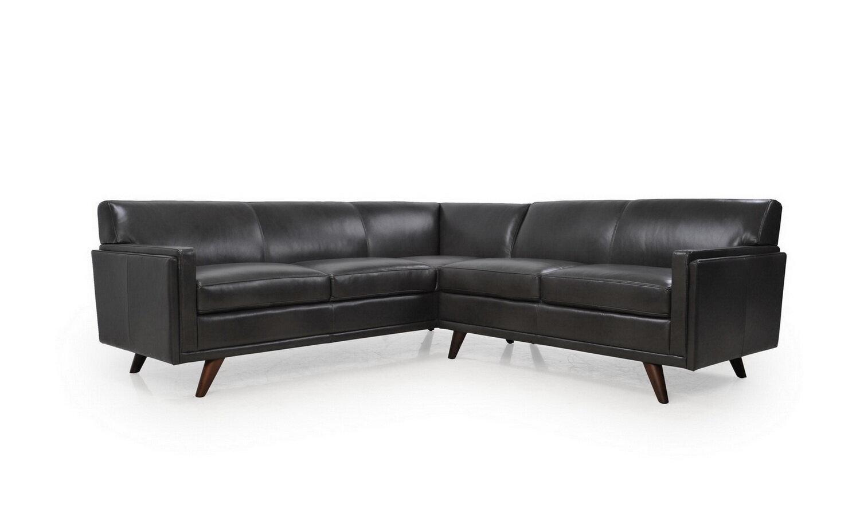 Corrigan studio ari leather sectional wayfair