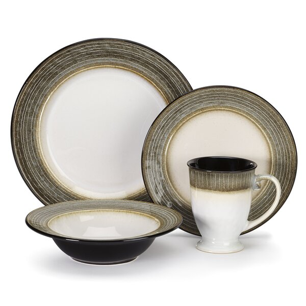 Loire 16 Piece Dinnerware Set, Service for 4 by Cuisinart