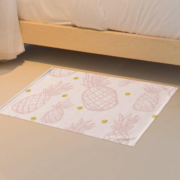 Pineapple Floor Pink Area Rug by Bay Isle Home