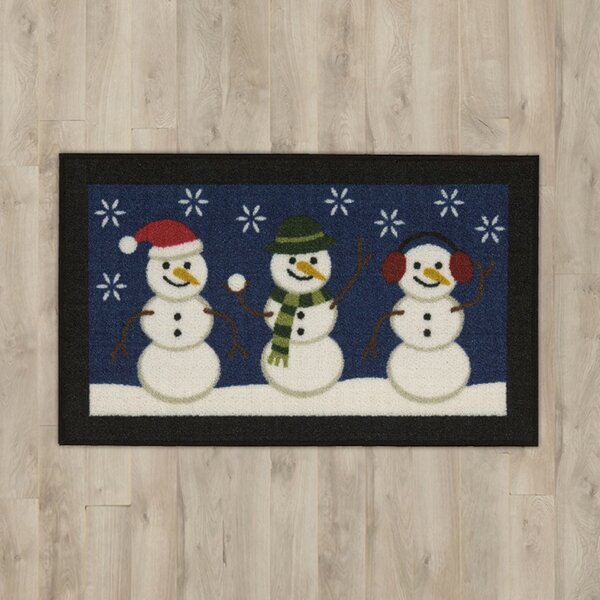 Let It Snow Blue Area Rug by The Holiday Aisle