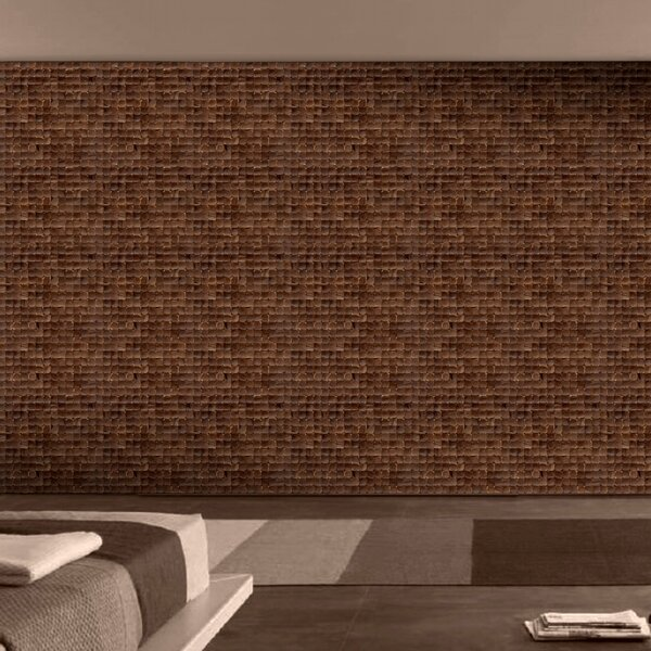 Coconut Mosaic Tile in Espresso Luster by Cocomosaic