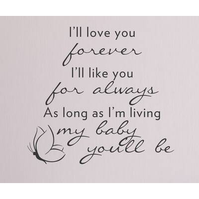 Dana Decals PS I Love You Quote Medium Wall Decal Wayfair Extraordinary I Ll Love You Forever Quote