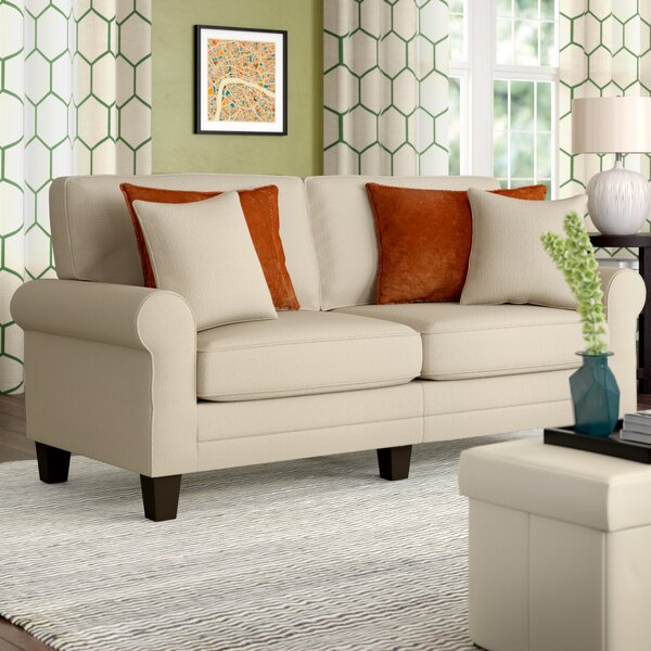 Closeout Buxton Rolled Arm Sofa by Beachcrest Home by Beachcrest Home