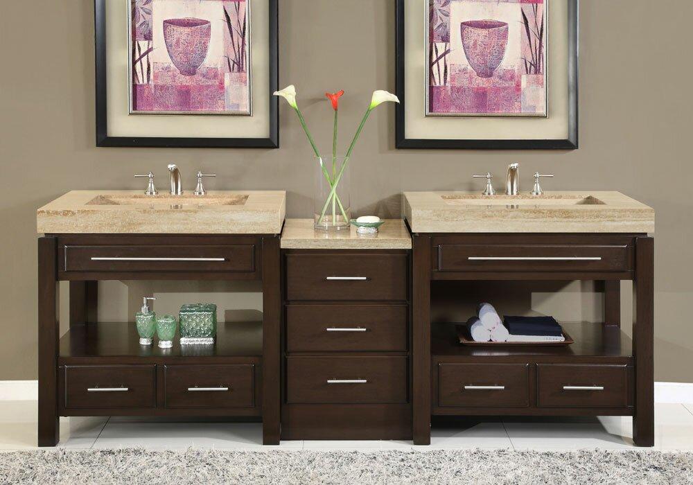 """Bathroom Vanities Youngstown Ohio silkroad exclusive chester 92"""" double bathroom vanity set"""