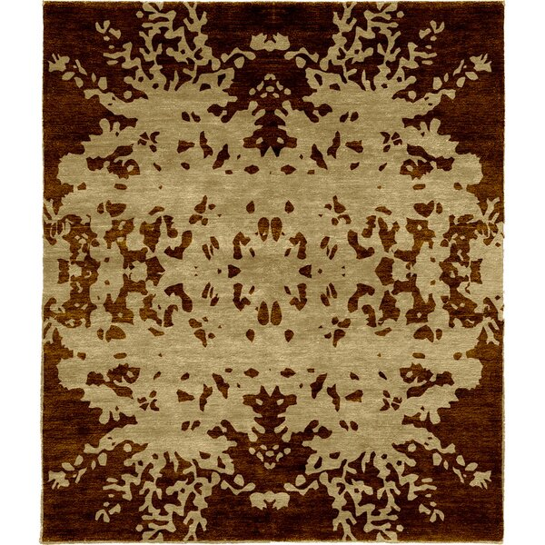 One-of-a-Kind Americus Hand-Knotted Traditional Style Brown 6' x 9' Wool Area Rug